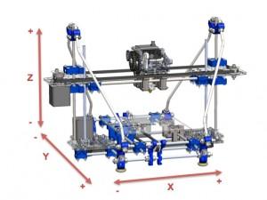 3d Printer  X, Y extruder head movement